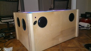 Side View of Speakers