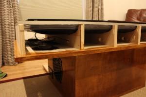 Speaker mounted inside the case