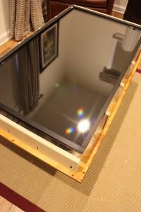Acrylic with the TV underneath
