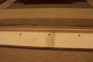 Inside of the top frame assembled using pocket screws