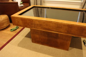 Finished antique walnut poly after knocking down the shine with steel wool