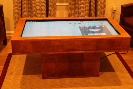 Touch Screen coffee table on the Android screen
