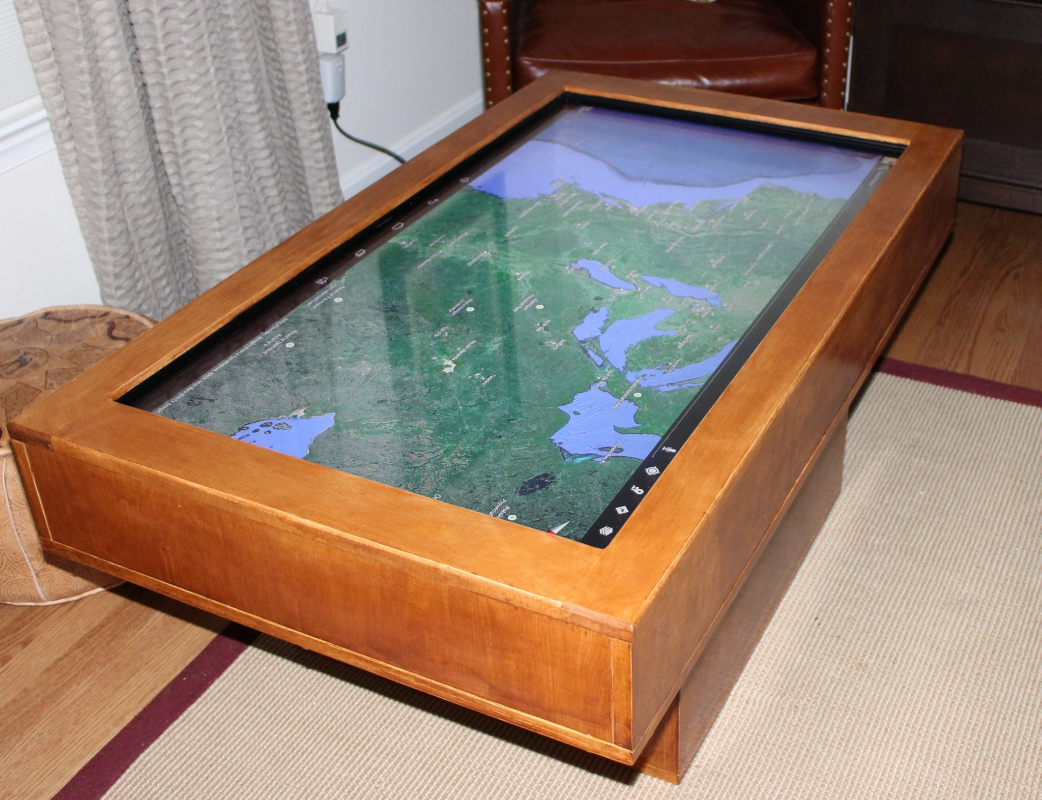 Touch Screen Coffee Table Wrap Up Automated Maker - Android coffee table